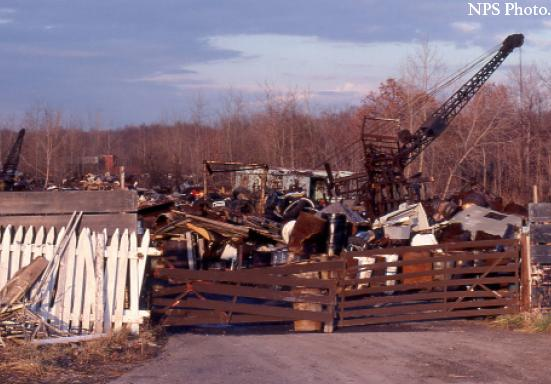 Photo of Krejci Dump, early 1980's, courtesy of NPS